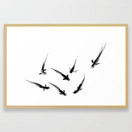 Ink Pond Framed Art Print