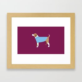 New York Normal: Puppy Sweaters. Framed Art Print