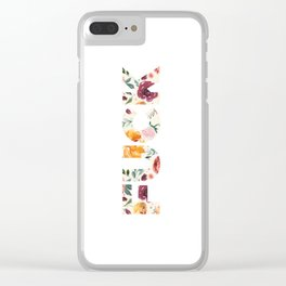 Flowery Language: FUCK Clear iPhone Case