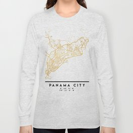 PANAMA CITY STREET MAP ART Long Sleeve T-shirt