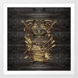 Vegvisir - Viking  Navigation Compass Art Print