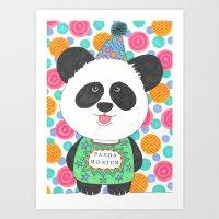 Art Print featuring Pandamonium by Vix Harris