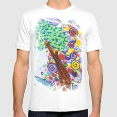 tree of love Mens Fitted Tee White MEDIUM
