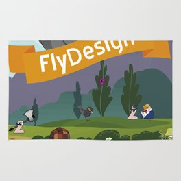 Fly World Rug