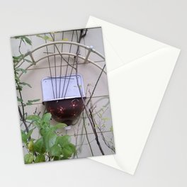 sink at a wall in a garden Stationery Cards