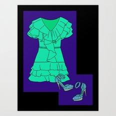 Salsa Night Art Print