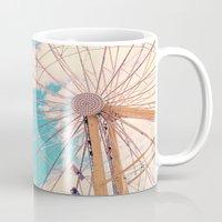ferris wheel Mugs featuring Ferris Wheel by Katie_Photography