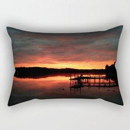 Lake ablaze at sunrise Rectangular Pillow
