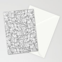 Abstract pen drawing - black and white pattern Stationery Cards