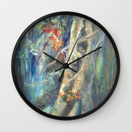 Eyes in the Forest Wall Clock