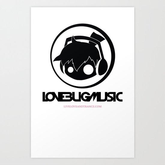 Love Bug Music Logo  Art Print