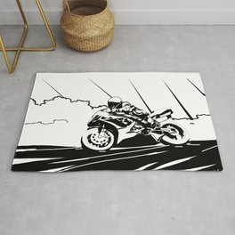 Motorcycle Race Rug