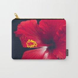Ula Aloalo Hanohano Red Tropical Hibiscus Maui Hawaii Carry-All Pouch