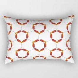 Red Japanese Maple Tree Samara Rounded Hex Pattern Rectangular Pillow