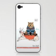 Bear Sleigh iPhone & iPod Skin