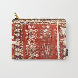 Hotamis  Antique Turkish Karapinar  Kilim Print Carry-All Pouch