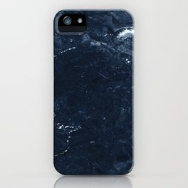 Navy Marble iPhone Case