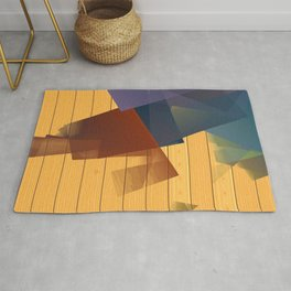 Geometric composition of an asymmetric poetry. Rug