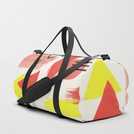 Abstract Composition in Peach and Yellow Duffle Bag