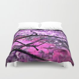 Pink Lavender Nature Abstract Duvet Cover