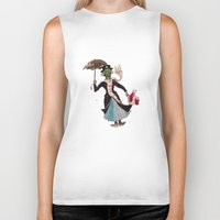 mary poppins Biker Tanks featuring Zombie Mary Poppins by Brendan Purchase