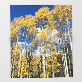 Colorado Aspens Throw Blanket
