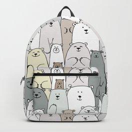 Bear family cartoon Backpack