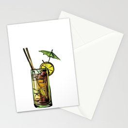 Drinking Ok But First Mai Tai Stationery Cards