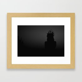Forest Witch Silhouette Framed Art Print