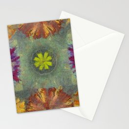 Trabes Stripped Flowers  ID:16165-151640-97070 Stationery Cards