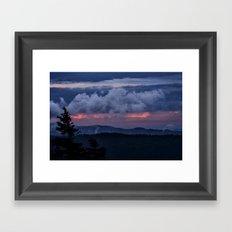 Sunset at the Smoky's Framed Art Print