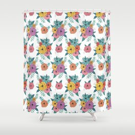 Gouache floral Shower Curtain