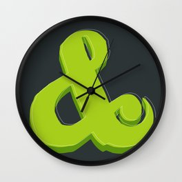Green Ampersand Wall Clock