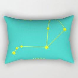 LIBRA (YELLOW-TURQUOISE STAR SIGN) Rectangular Pillow