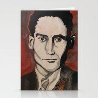 kafka Stationery Cards featuring Franz Kafka by Emily Storvold