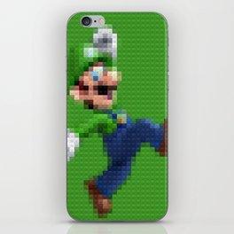 Luigi - Toy Building Bricks iPhone Skin