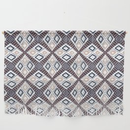 Earth Tones Diamonds | Mud Cloth Inspired Wall Hanging