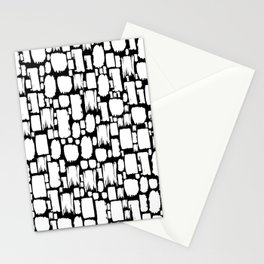 Abstract Paint Strokes - Black and white Stationery Cards