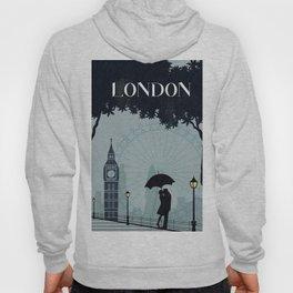 London vintage poster travel Hoody