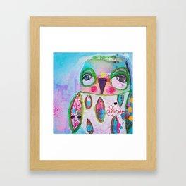 Je t´aime chouette Framed Art Print
