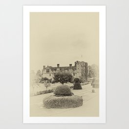 Hever Castle Yellow Plate 2 Art Print