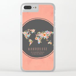 Wanderlust World Map Clear iPhone Case