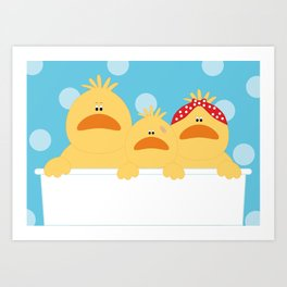 Ducks Art Print