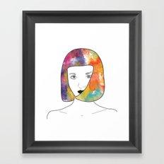 face I Framed Art Print