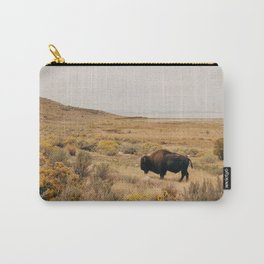 Bison Bull on Antelope Island Carry-All Pouch