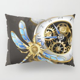 Dials with Dragonfly ( Steampunk ) Pillow Sham