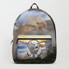 Wolf, Bear and Dream Catcher Backpack