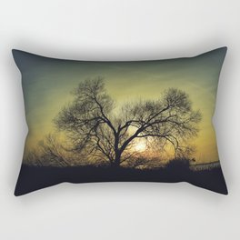 December Sun magical blue light Rectangular Pillow