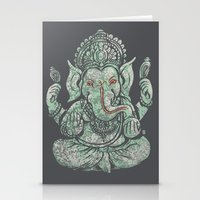 ganesha Stationery Cards featuring Ganesha by Thomcat23