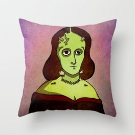Prophets of Fiction - Mary Shelley /Frankenstein Throw Pillow